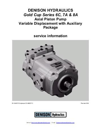 Dansion gold cup piston pump P24S-8L1E-9A4-A00-B1