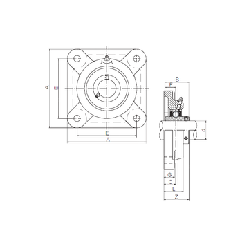 ISO UCFX11 Bearing  Units