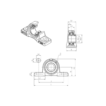 SNR UCP217 Bearing  Units