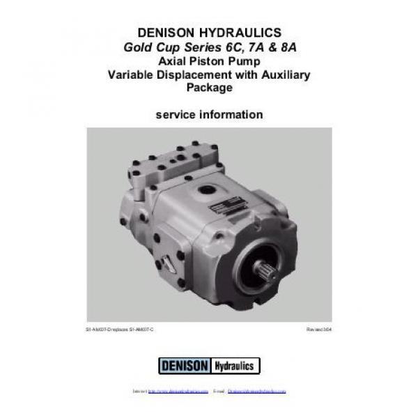 Dension Canada gold cup piston pump P30L-8L5E-9A7-A0X-B0 #2 image