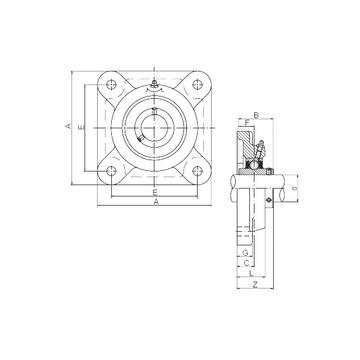 ISO UCFX11 Bearing  Units    #1 image